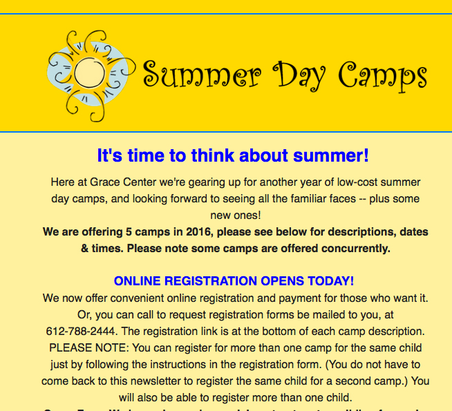 Register Summer Day Camps