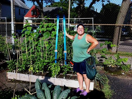 Garden With Mature Plants Little Kitchen Food Shelf